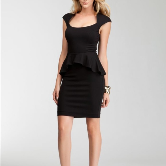 Bebe Dresses Peplum Little Black Dress Xs Poshmark